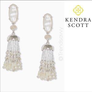 NWT KENDRA SCOTT Dove Statement Silver Earrings